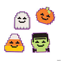 Pixelated Halloween Magnet Craft Kit