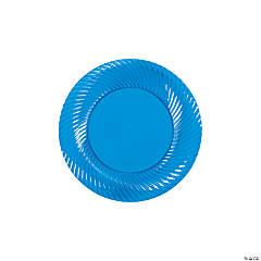 Plastic Blue Dessert Plates