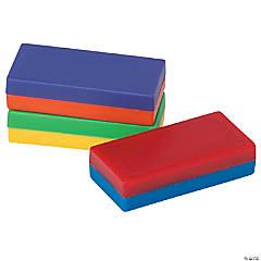 Plastic Encased Block Magnet, 12 per pack, 2 packs