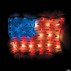 Plastic Light-Up USA Flag Party Light