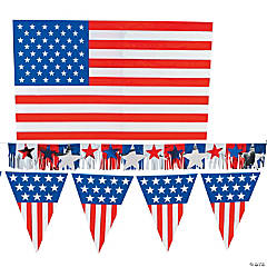 Plastic Patriotic Outdoor Decorating Kit