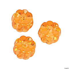 Plastic Pumpkin Beads