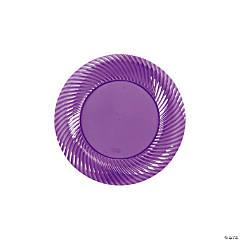 Plastic Purple Dessert Plates