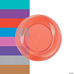 Plastic Red Dessert Plates