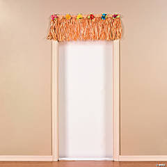 Plastic Short Luau Natural Grass Door Banner