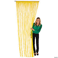 Plastic Yellow Fringe Door Curtain