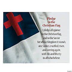 Pledge to the Christian Flag Poster