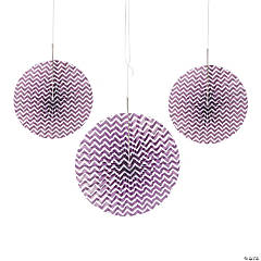 Plum Chevron Hanging Fans