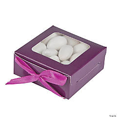 Plum Shadow Favor Boxes