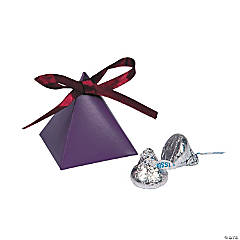Plum Triangle Favor Boxes