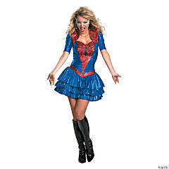 Plus Size Adult Woman's Sexy Deluxe Spider Girl Costume