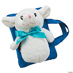 Plush Blue Lamb of God Bible Cover