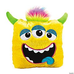 Plush Bright Yellow Monster Pillow