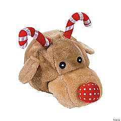 Plush Candy Cane Reindeer Hat