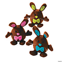 Plush Chubby Chocolate Bunnies