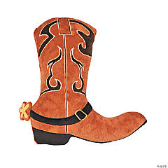 Plush Cowboy Boot Pillow