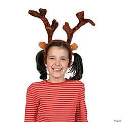 Plush Deluxe Reindeer Antlers