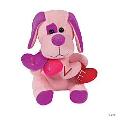 Plush Dog with Hearts