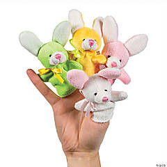 Plush Easter Bunny Finger Puppets
