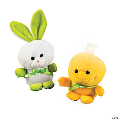 Plush Easter Chicks & Bunnies
