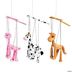 Plush Farm Animal Marionette Puppets