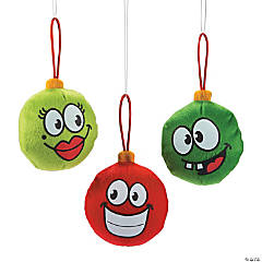 Plush Funny Face Christmas Ornaments
