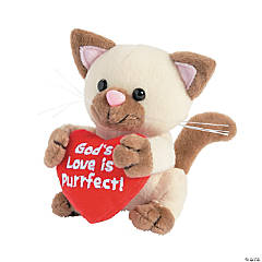 "Plush ""God's Love is Purrfect"" Cat"