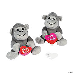 Plush Gorillas with Heart