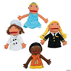 Plush Happy Kids Career Hand Puppets Set 2