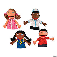 Plush Happy Kids Hand Puppets Set 1
