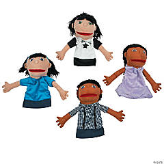 Plush Happy Kids Hand Puppets Set 2