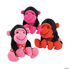 Plush Heart Valentine Gorillas