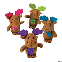 Plush Holiday Brights Moose