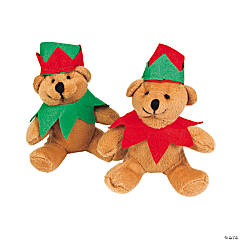 Plush Holiday Elf Bears