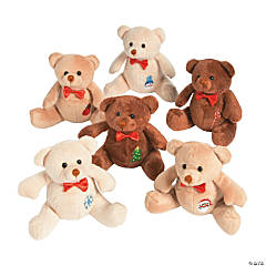 Plush Holiday Patchwork Bears