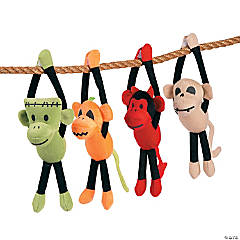 Plush Long Arm Halloween Sock Monkeys