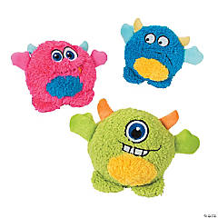 Plush Monster Squeaker Dog Toys