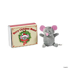 Plush Mouse in a Matchbox