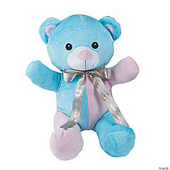 Plush Pastel Bear with Personalized Ribbon