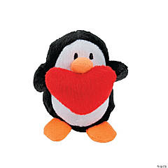Plush Penguins with Heart