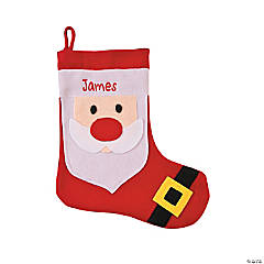 Plush Personalized Santa Christmas Stocking