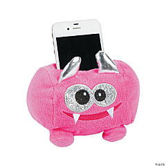 Plush Pink Monster Cell Phone Holder