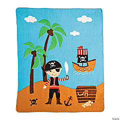 Plush Pirate Fleece Throw