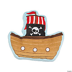 Plush Pirate Ship Pillow