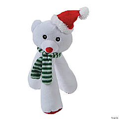 Plush Polar Bear Dog Toy