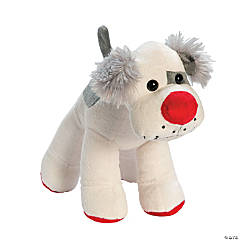 Plush Red Nose Dog