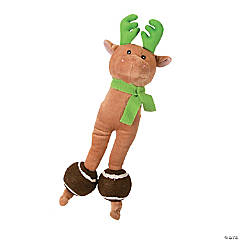 Plush Reindeer Dog Toy with Tennis Balls