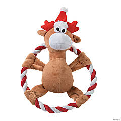 Plush Reindeer Flying Disc Dog Toy