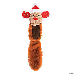 Plush Reindeer with Tail Dog Toy