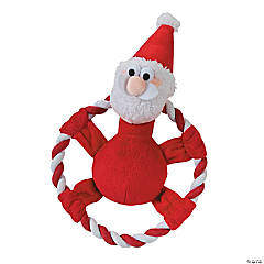 Plush Santa Flying Disc Dog Toy